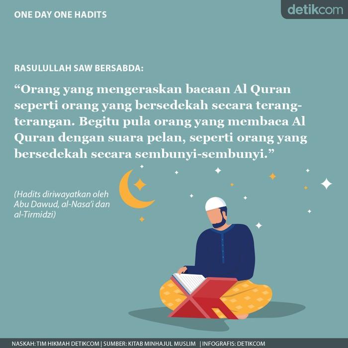 One day One Hadits hukum mengeraskan bacaan al quran