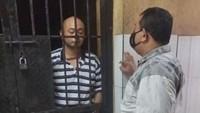 Penampakan Penganiaya Perawat Siloam Pakai Baju Tahanan Hitam Putih