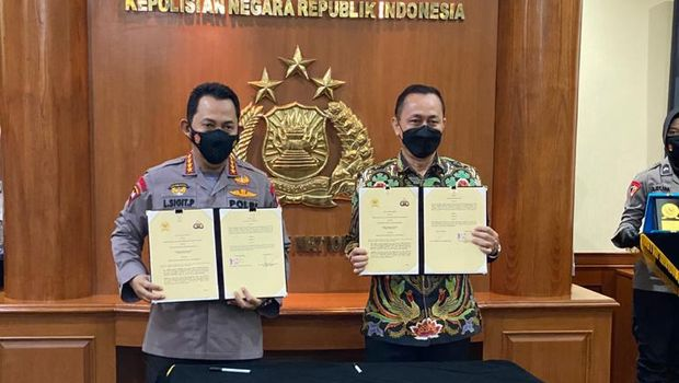 Penandatanganan MoU Polri dan Komnas HAM