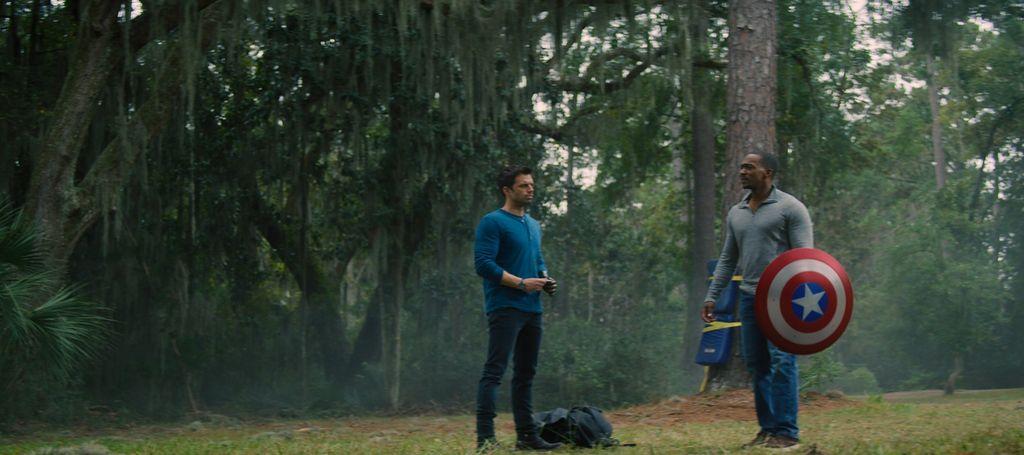 Salah satu cuplikan The Falcon and The Winter Soldier.