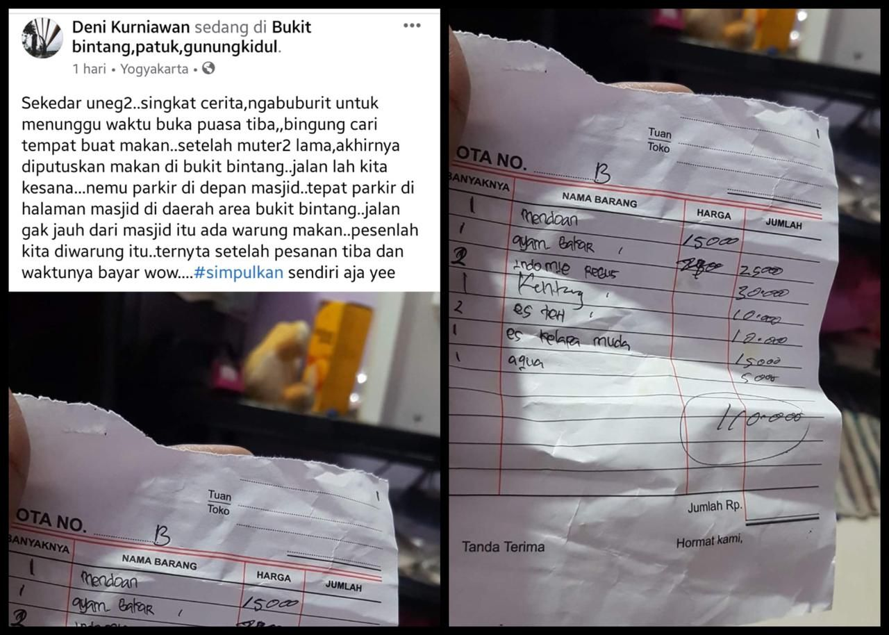 Viral Kisah Warung 'Getok' Harga di Bukit Bintang, Ini Kata Satpol PP
