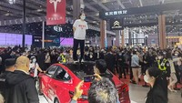 Rem Mobil Rusak, Tesla Dibikin Malu di Pameran Otomotif