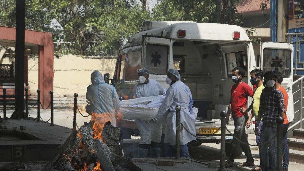 Sedih! Kematian Corona di India Melonjak, 60 Orang Dikremasi Setiap Hari