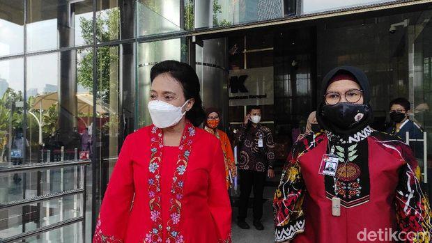 Bintang Puspayoga usai meneken MoU di KPK