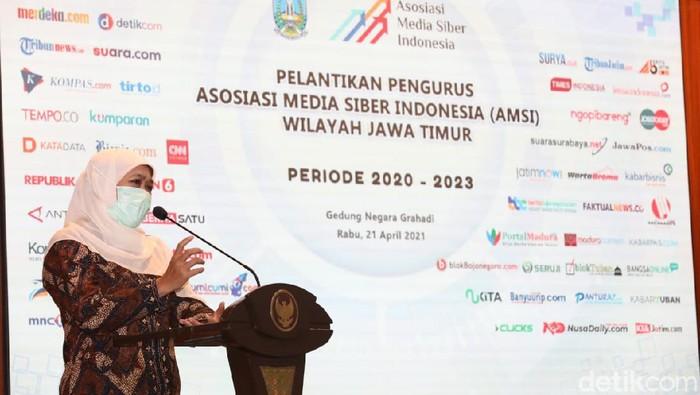 pelantikan pengurus AMSI Jatim periode 2020-2023