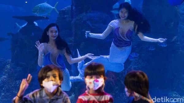 i peringatan Hari Kartini kali ini, sejumlah putri duyung pun tampil menghibur para pengunjung.