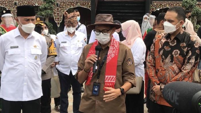 Sandiaga Uno mengunjungi Sumatera Barat/Jeka Kampai detikcom