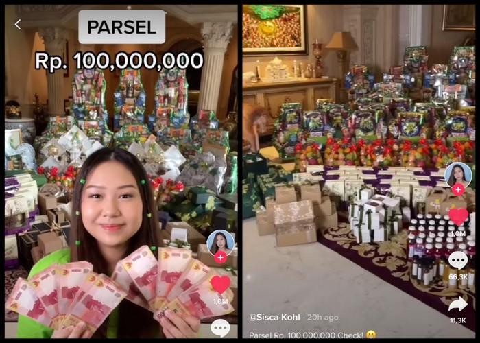 Sisca Kohl 'Unboxing' Parsel Senilai Rp100 Juta, Ini Isinya!