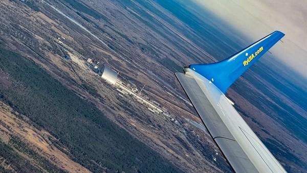 Penerbangan rendah di atas situs bencana nuklir Chernobyl untuk memperingati 35 tahun bencana yang jatuh pada bulan ini.