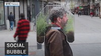 Unik, Masker Rumah Kaca Anti Corona Ini Punya Tanaman Hidup di Dalamnya