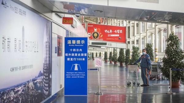 Bandara Chengdu menempati posisi ketiga dengan 40,7 juta penumpang, lalu lintas penumpang turun 27 persen dari 2019. (Getty Images)