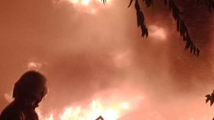 Kebakaran di Palmerah (dok Damkar Jakbar)
