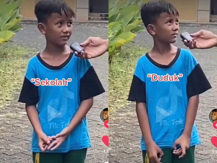 Kisah viral bocah yang tak tahu singkatan kata SD.