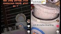 Kocak! Netizen Kaget Lihat Beras yang Dimasaknya Jadi Satu Rice Cooker Penuh