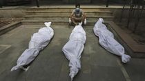 Puluhan Jenazah Terdampar di Sungai Gangga India, Diduga Korban COVID-19