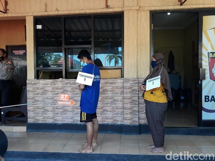Rekonstruksi pembunuhan bos wajan di Bantul, Kamis (22/4/2021).