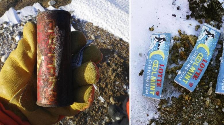 Sampah kaleng soda Jepang di Antartika