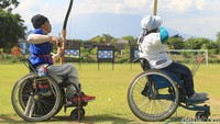 Semangat Atlet Panahan Difabel Tetap Latihan di Bulan Puasa