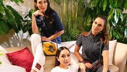 8 Foto Adu Gaya Luna Maya Hingga Nagita Slavina Berbusana Serba Gucci