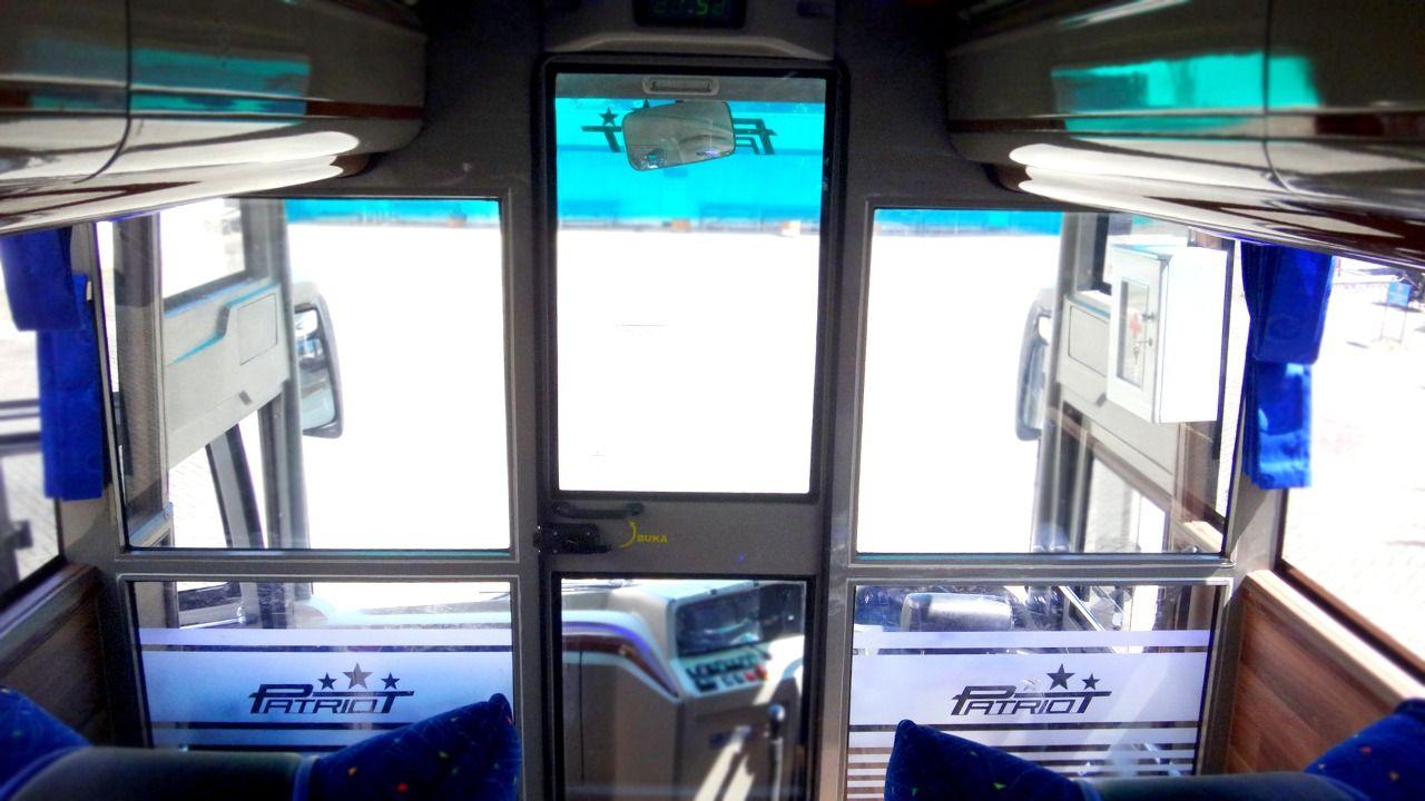 Bus Baru PO ANS menggunakan bodi garapan karoseri Morodadi Prima dengan konfigurasi kaca depan single glass (satu kaca).