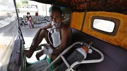 Amukan COVID-19 di India Mengganas, Warga Sampai Bikin Oksigen Sendiri