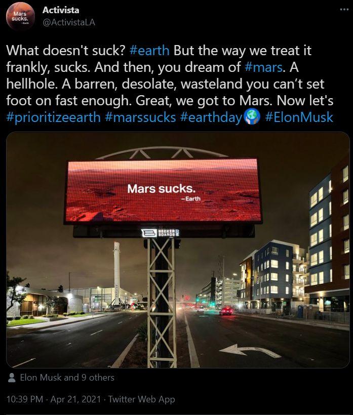 Ambisi Elon Musk ke Mars disindir saat Hari Bumi