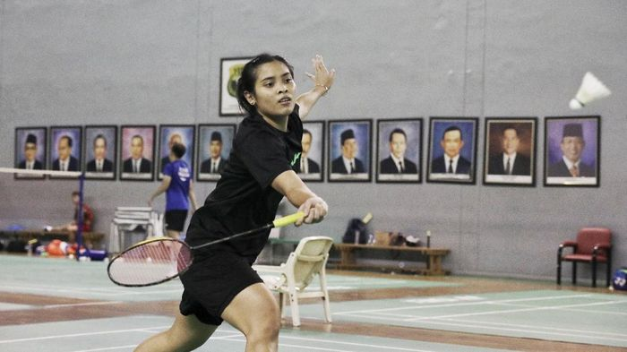 Gregoria Mariska Tunjung mempersiapkan diri jelang Malaysia Open 2021. Foto: dok. PBSI