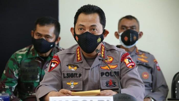 Kapolri Jenderal Listyo Sigit Prabowo dalam konferensi pers KRI Nanggala-402