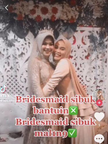 Kisah viral bridesmaid pengantin yang ternyata maling saat acara pernikahan.