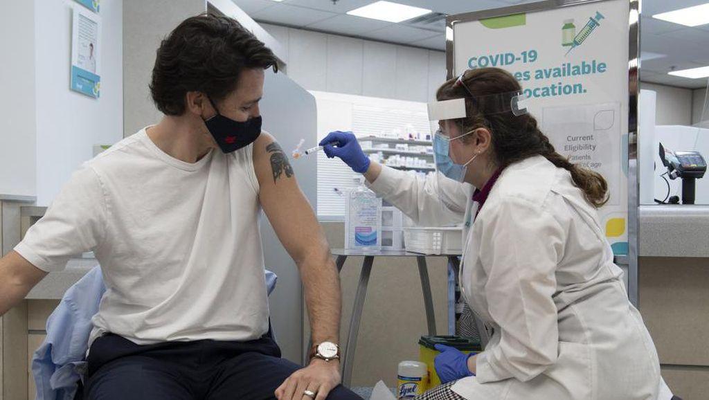 PM Kanada dan Istri Disuntik Vaksin AstraZeneca