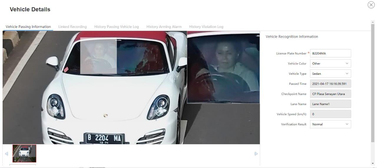 Penampakan tampang pengemudi Porsche penerobos busway di Jakarta Selatan