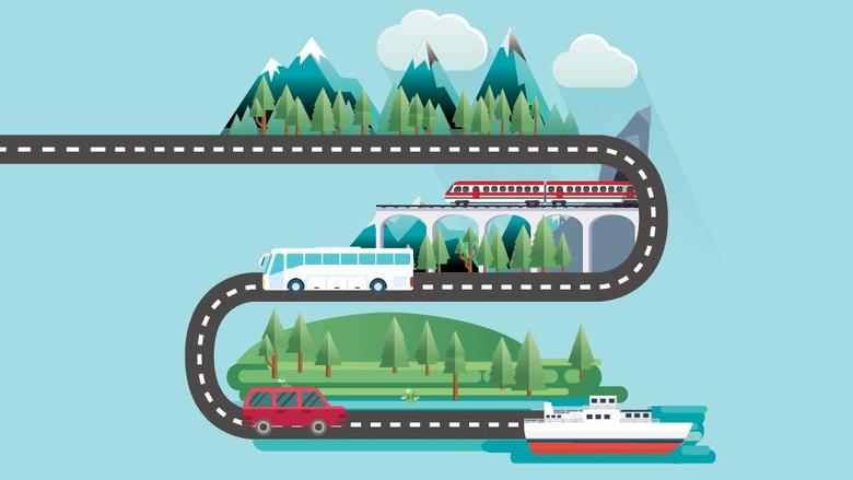Aturan perjalanan naik pesawat, kereta dan laut, serta mobil pribadi di masa periode pengetatan perjalanan.