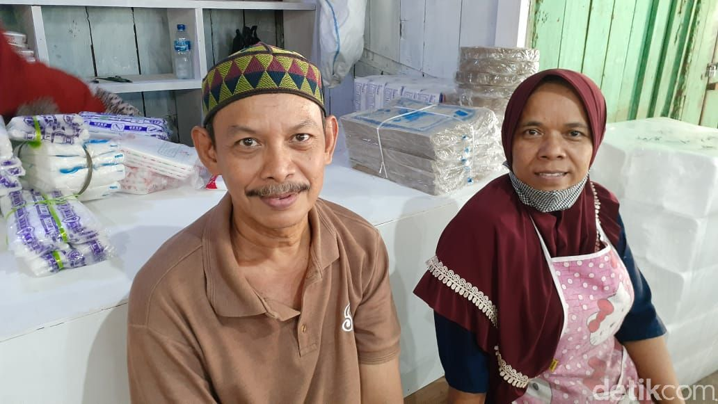 Bang Jali, pedagang Pasar Minggu (Afzal Nur Iman/detikcom)