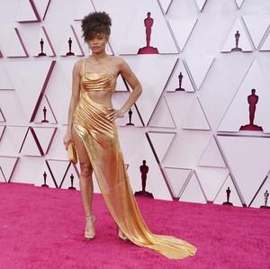 Adu Gaya Seksi 6 Selebriti di Karpet Merah Oscar 2021