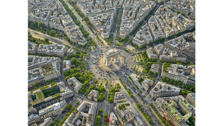 Foto udara Paris