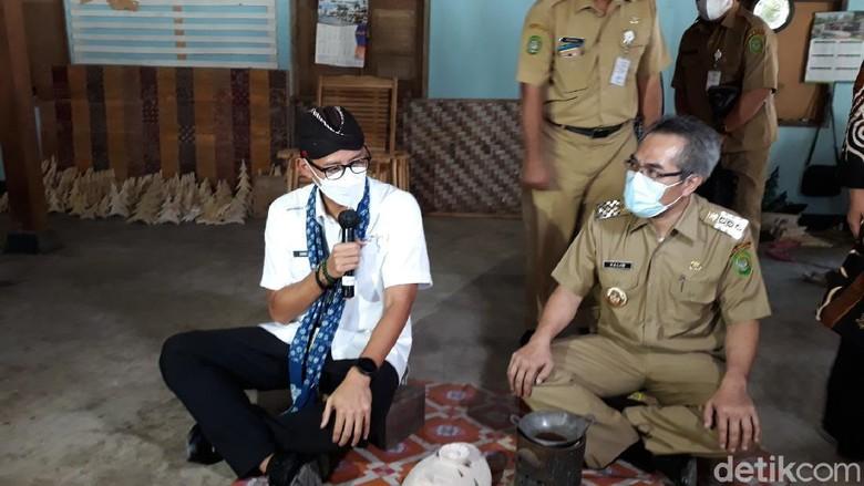 Kunjungan Menparekraf Sandiaga Uno ke Desa Krebet, Bantul