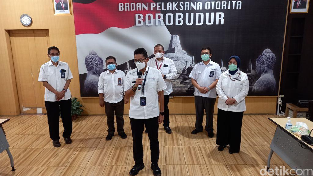 Menparekraf Sandia Uno bicara soal wisata Candi Borobudur.
