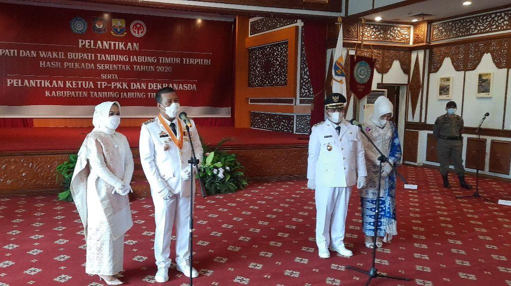 Pj Gubernur Jambi Lantik Bupati-Wabup Tanjung Jabung Timur
