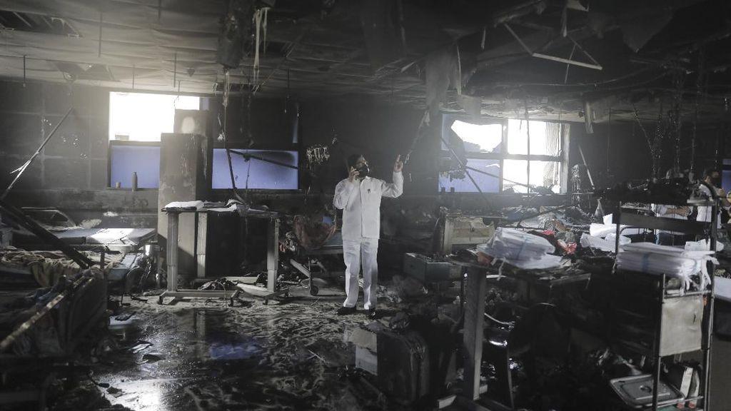 RS India Terbakar, 13 Pasien Corona Tewas
