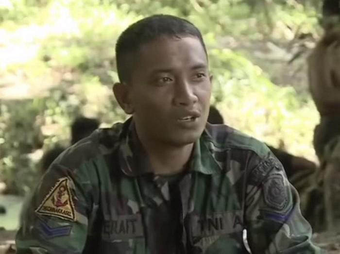 Pesan Serda Setyo Wawan saat menjalani pelatihan.