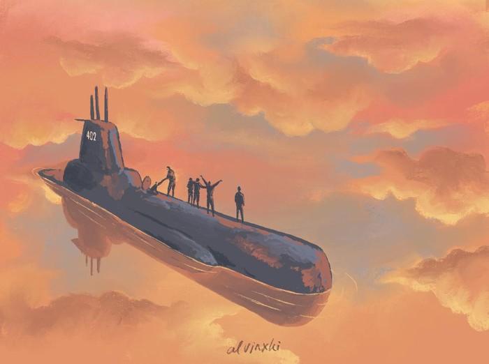 Ilustrator yang membuat tentang kisah kapal KRI Nanggala 402.
