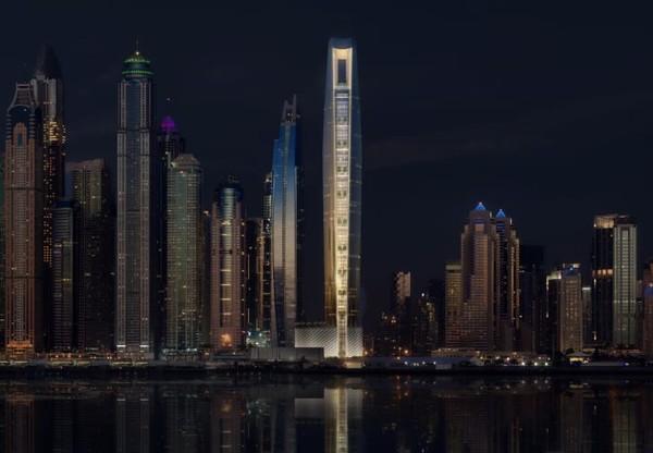 Jan ditugaskan untuk merancang gedung pencakar langit di sebidang tanah segitiga di Dubai Marina. Luas kawasannya hanya 2.500 meter persegi, terbilang kecil untuk bangunan setinggi itu.