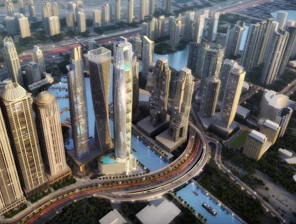 Dubai, Uni Emirat Arab sedang membangun hotel tertinggi di dunia. Bangunan setinggi 365 meter ini bakal dilengkapi lebih dari 1.000 kamar.