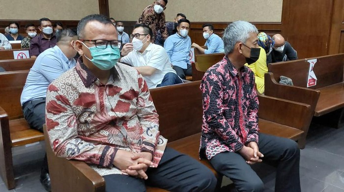Edhy Prabowo hadiri sidang kasus ekspor benur secara langsung di Pengadilan Tipikor Jakarta