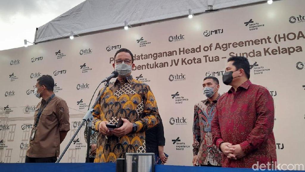 Anies Baswedan Usul Nama Kawasan Kota Tua Diubah Jadi Batavia