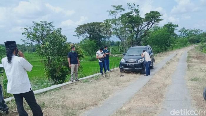 Lokasi pembunuhan Fatkhan Nur Rizqian alias Rizky di tepi Sungai Woro desa Borangan Kecamatan Manisrenggo, Klaten, Rabu (28/4/2021).