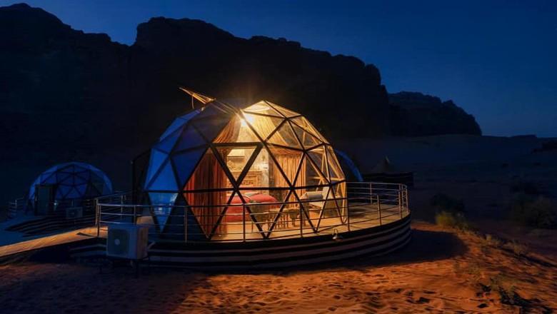 Penginapan ala Mars di Wadi Rum