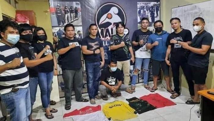 Pria di Manado, Sulawesi Utara, ditangkap usai injak bendera Merah Putih lalu diupload di media sosial (Dok istimewa)