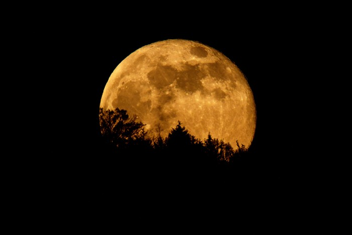 KARLSRUHE, GERMANY - APRIL 27: A supermoon shines on April 27, 2021 in Karlsruhe, Germany. (Photo by Matthias Hangst/Getty Images)