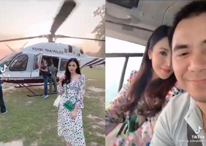 Istri pamer helikopter di TikTok, suami jadi turun pangkat.